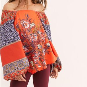 🆕Free People Boho Positano Print Blouse